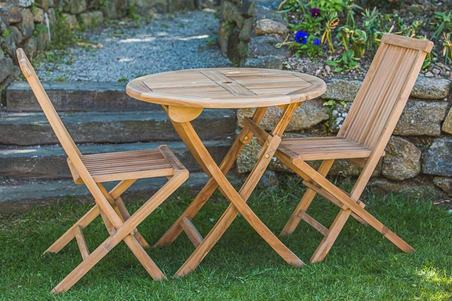 2 Seater Teak Table and Chair Set