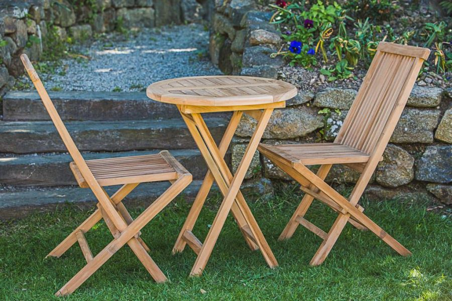 Outdoor Teak Table and Chair Set
