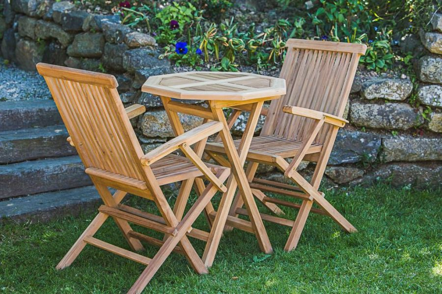 Outdoor Teak Octagonal Table and Chair Set