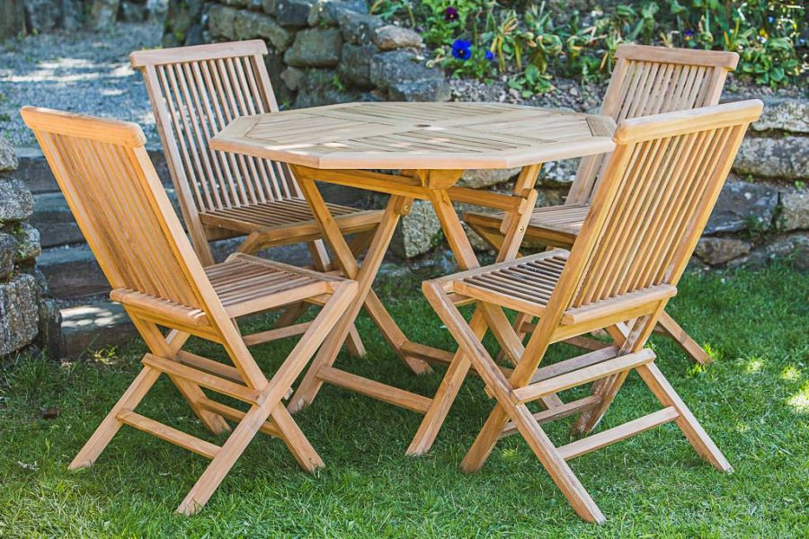Octagonal Teak Outdoor Furniture Set