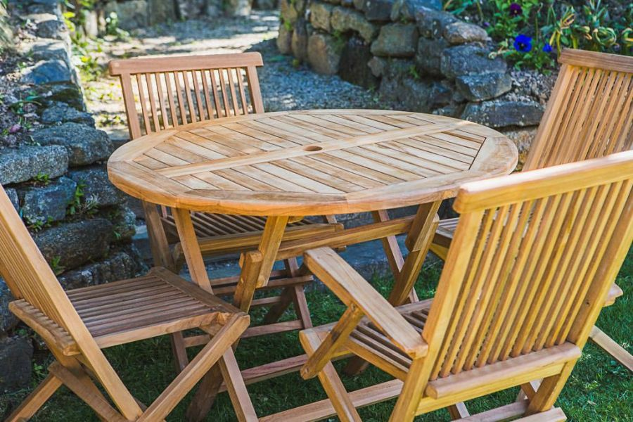Teak Outdoor Table and Chair Set
