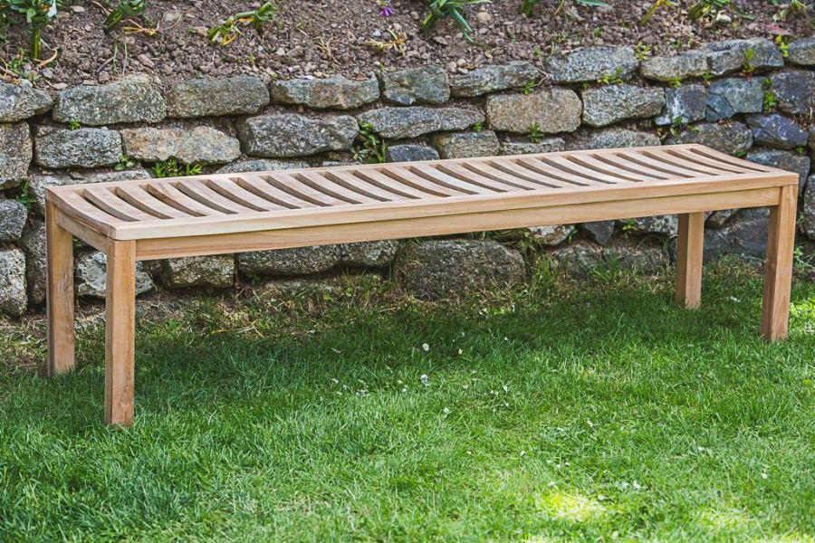 Teak Backless Patio Bench