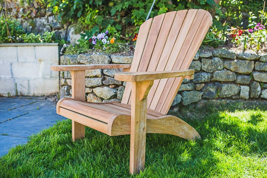 Fixed Teak Adirondack Chair