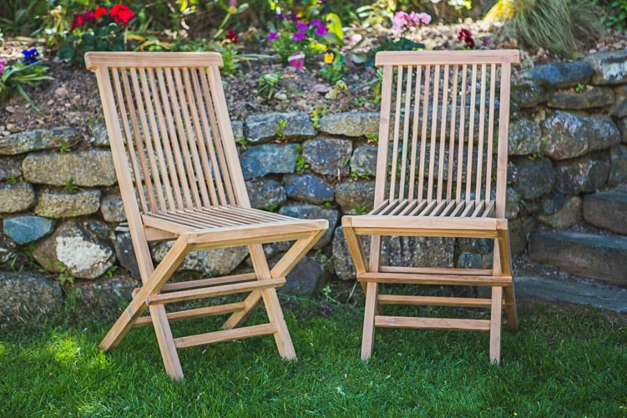Classic Folding Teak Chair (Pair)