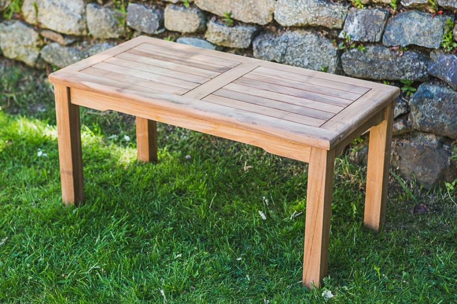 Rectangular Solid Teak 90cm Coffee Table