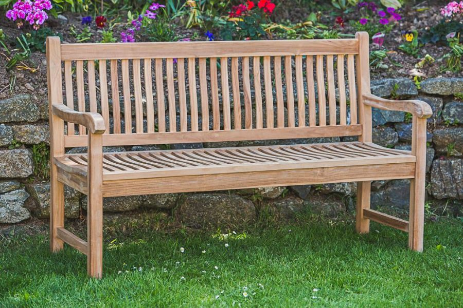 Teak Garden Bench Eleanor