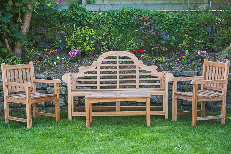 Luytens Teak Outdoor Bench