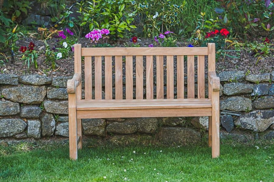 Outdoor teak bench