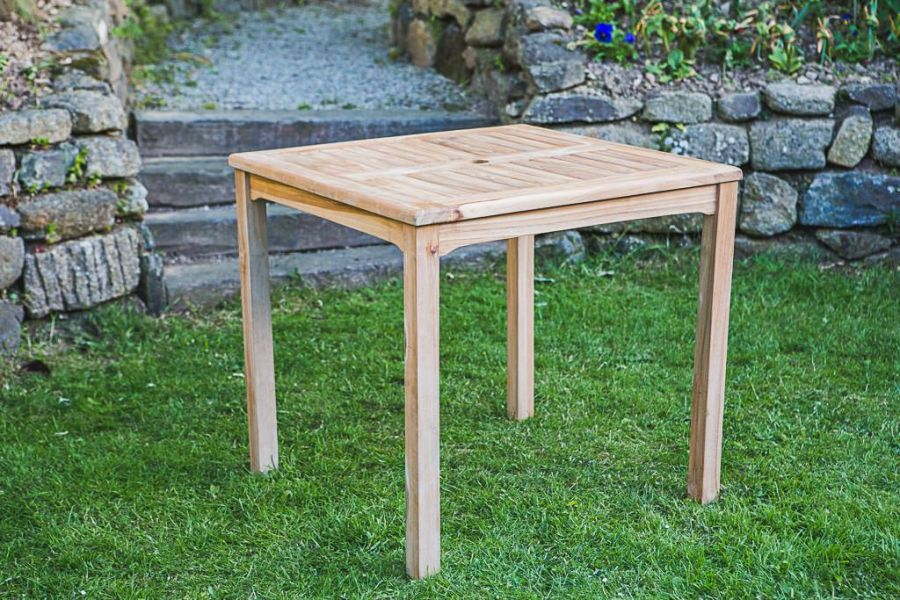 Fixed Teak Square Garden Table