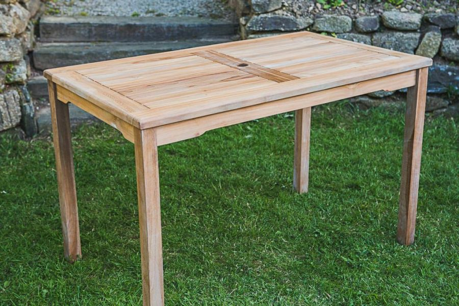 Fixed Teak Rectangular Garden Table
