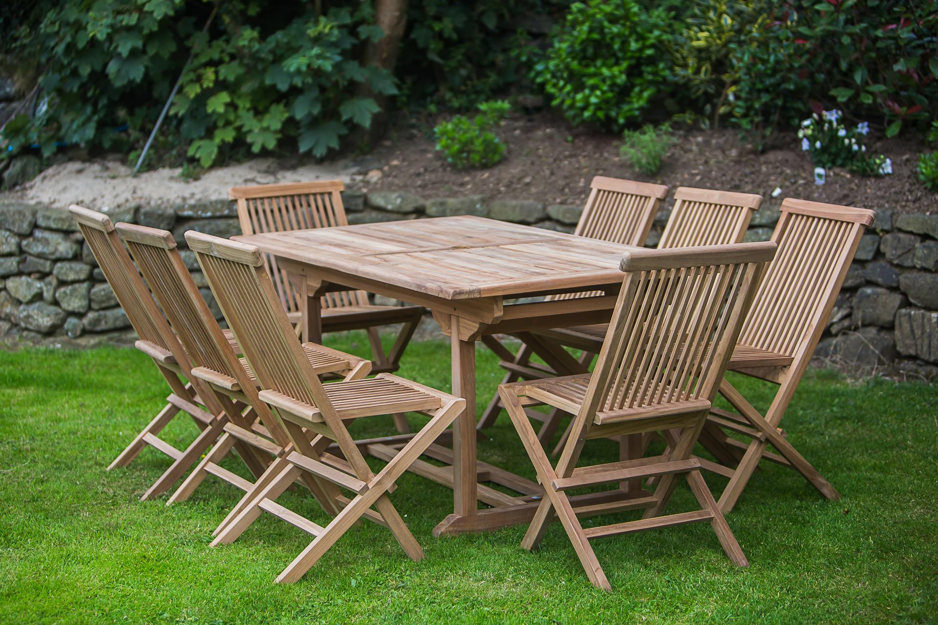 8 Seater Folding Garden Patio Sets