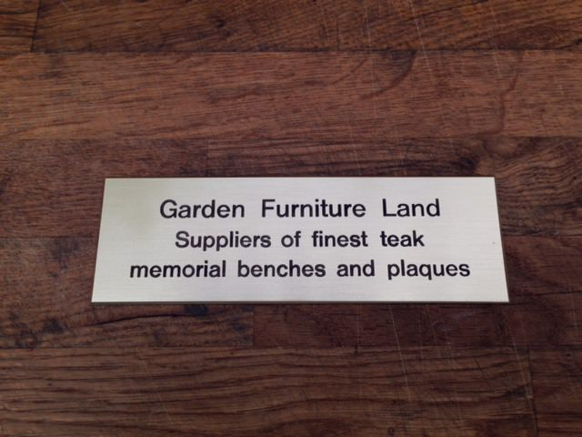 Garden Furniture Accessories - Bench Plaques